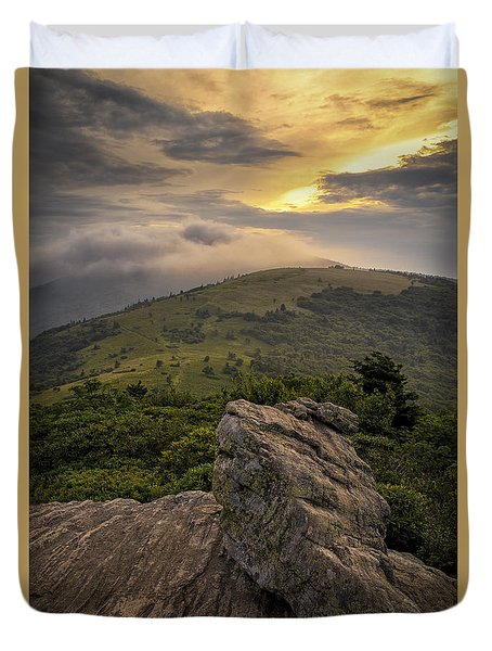 Rocky Sunset - Roan Mountain Duvet Cover