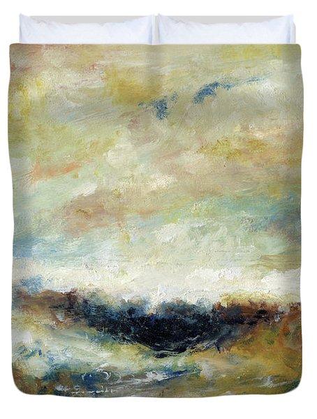 Sombra En El Mar Duvet Cover