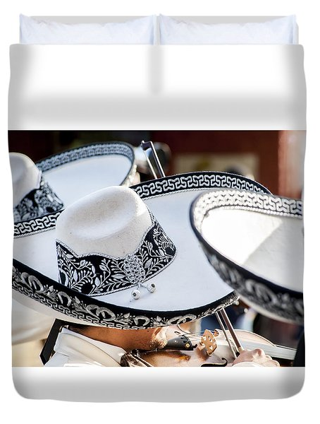 Sombrero And Music Duvet Cover