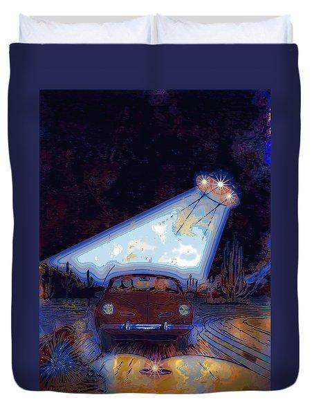 Some Enchanted Evening-retro Romance Duvet Cover