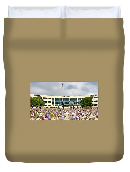 Duvet Cover featuring the photograph Some Save All - No.2015 by Joe Finney