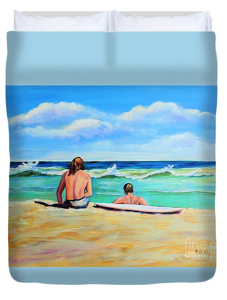 Duvet Cover featuring the painting Some Things Never Change by Patricia Piffath