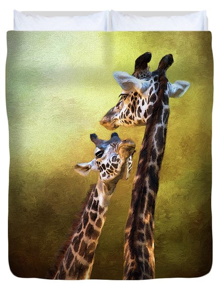 Someone To Look Up To - Wildlife Art Duvet Cover