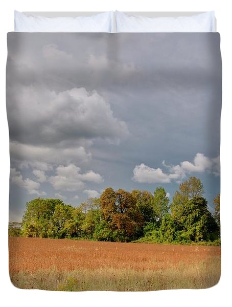 Duvet Cover featuring the photograph Somerset Sky 3069 by Guy Whiteley