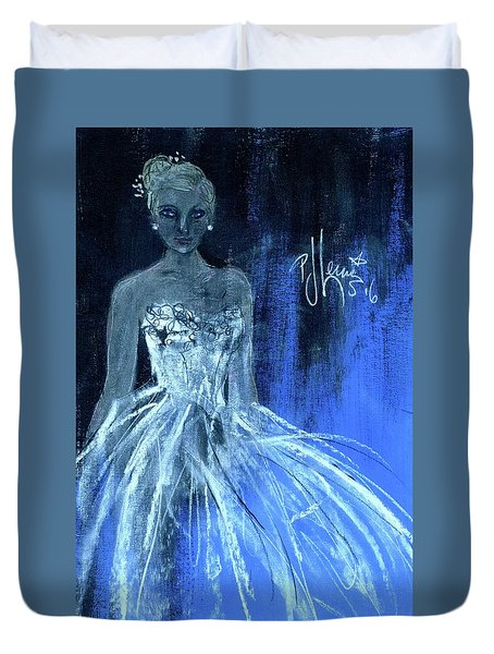 Something Blue Duvet Cover by P J Lewis