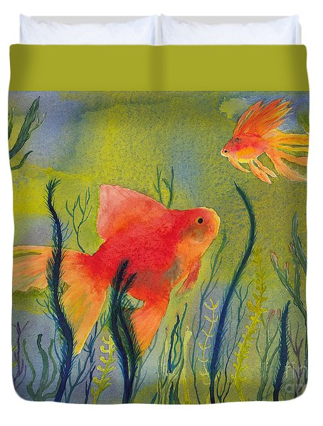 Something Fishy Going On Duvet Cover
