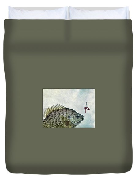 Duvet Cover featuring the photograph Something Fishy by Mark Fuller