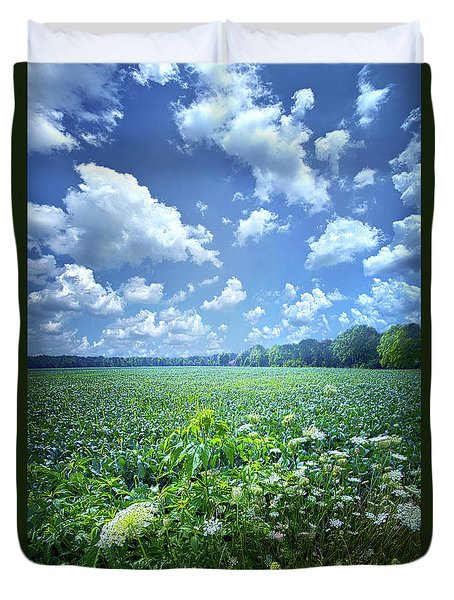 Duvet Cover featuring the photograph Something Good In This World by Phil Koch