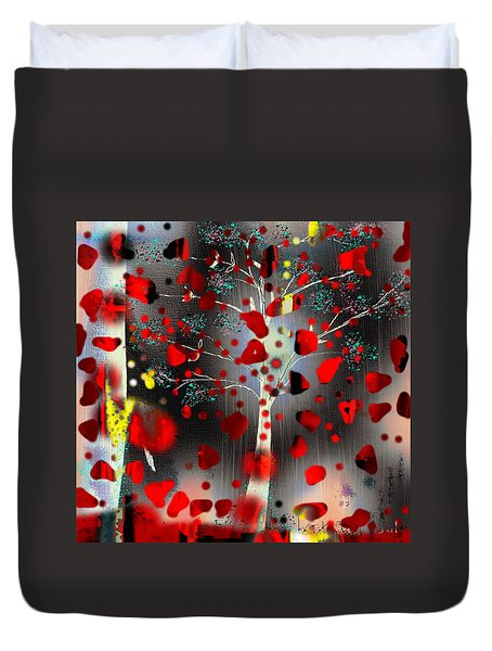 Duvet Cover featuring the digital art Lift Me Up by Yul Olaivar