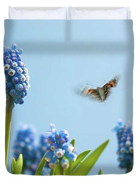 Something In The Air: Peacock Duvet Cover by John Edwards