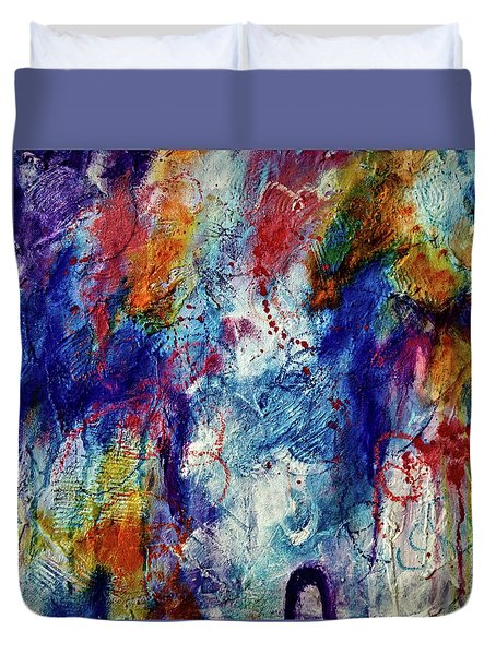Duvet Cover featuring the painting Something Wild by Tracy Bonin