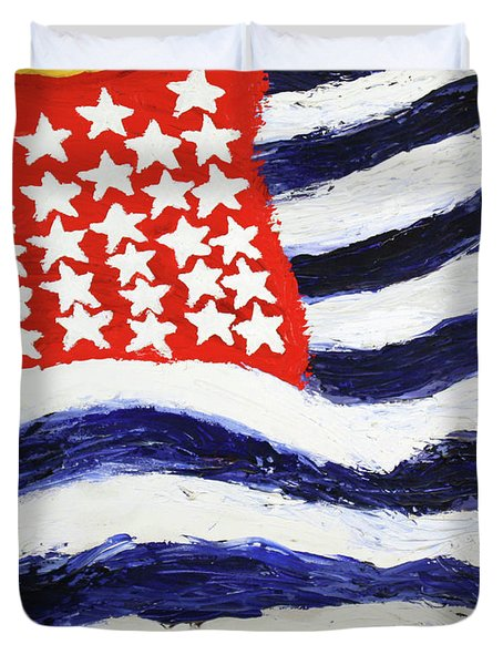 Something's Wrong With America Duvet Cover