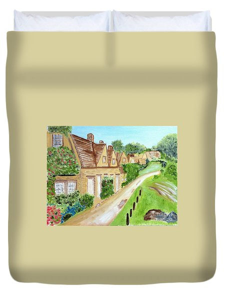 Somewhere In Cotswolds South West England Duvet Cover