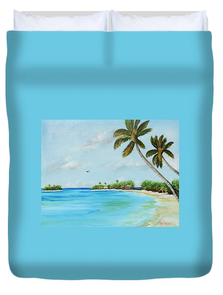 Somewhere In Paradise Duvet Cover