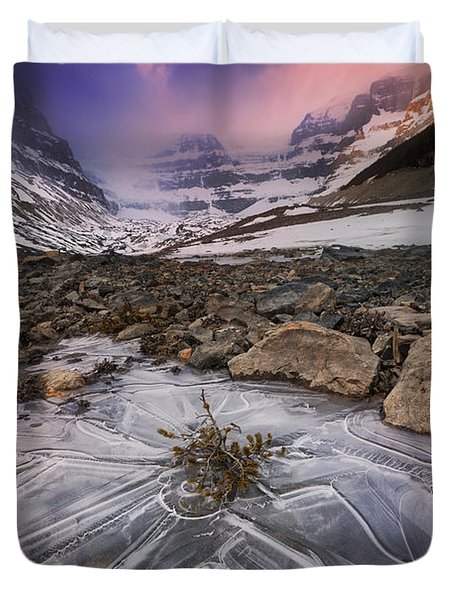 Somewhere In The Canadian Rockies Duvet Cover
