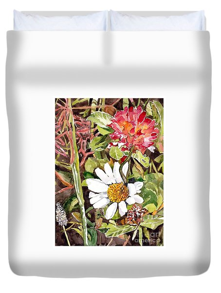 Somewhere In The Grass Duvet Cover