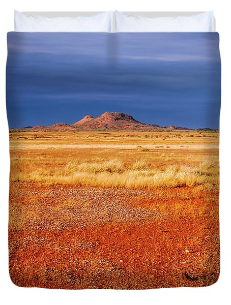 Somewhere In The Outback, Central Australia Duvet Cover