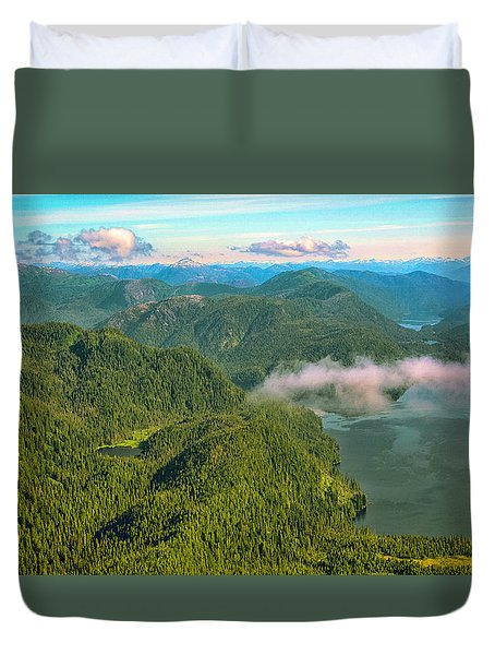 Duvet Cover featuring the photograph Over Alaska - June  by Madeline Ellis