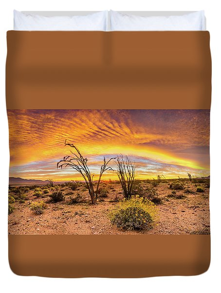 Somewhere Over Duvet Cover by Peter Tellone