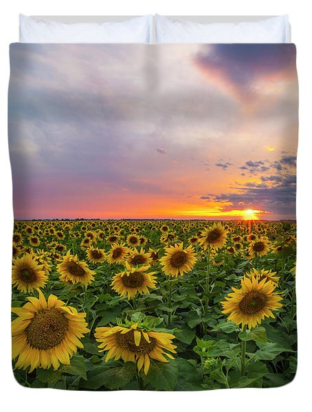 Duvet Cover featuring the photograph Somewhere Sunny  by Aaron J Groen