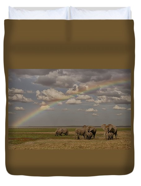Somewhere Under The Rainbow Duvet Cover by Gary Hall