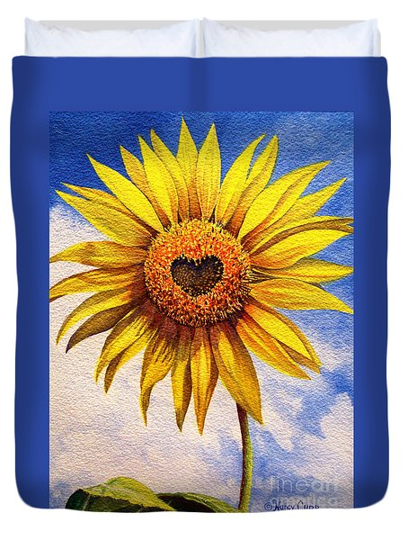 Son Kissed Duvet Cover by Nancy Cupp