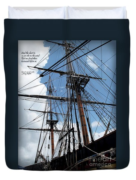 Son Of A Son Of A Sailor Quote - Tribute To The Bounty Duvet Cover