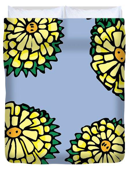 Sonchus In Color Duvet Cover