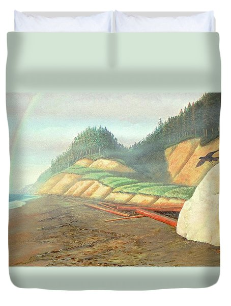 Song For My Brother Duvet Cover by Laurie Stewart