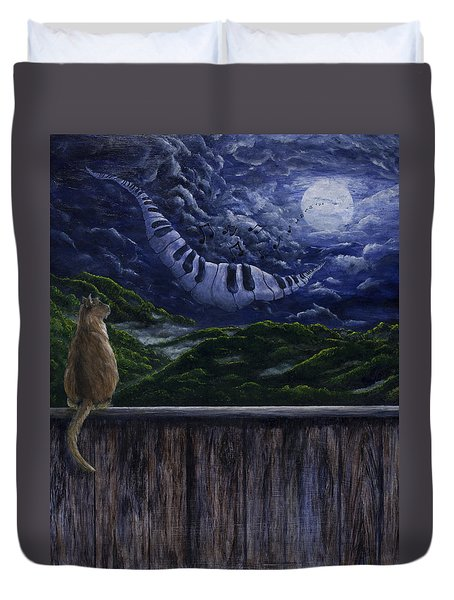 Song In The Night Duvet Cover