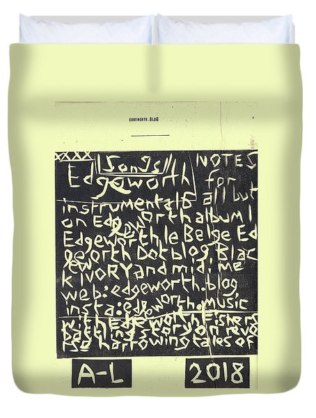 Song Notes Title Page A-l Duvet Cover