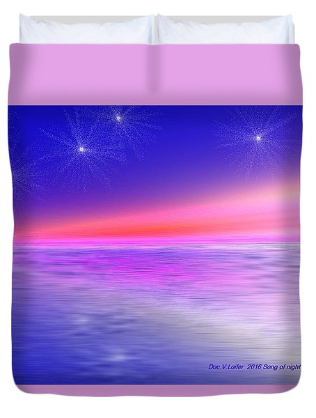 Song Of Night Sea Duvet Cover