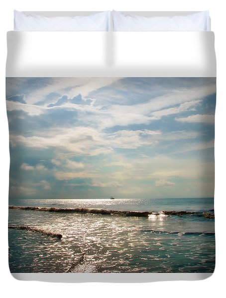 Duvet Cover featuring the photograph Song Of The Sea by Amy Tyler