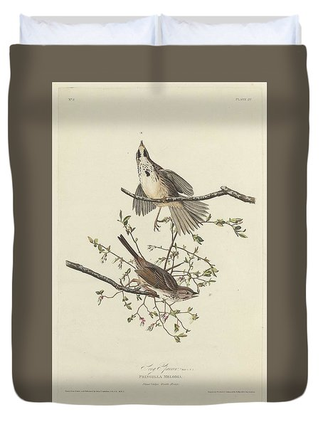 Song Sparrow Duvet Cover by Rob Dreyer