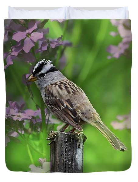 Songbird In The Garden Duvet Cover
