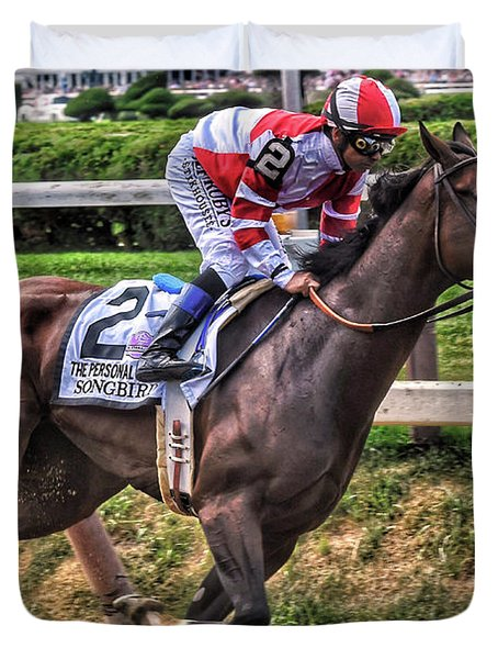 Songbird With Mike Smith Saratoga August 2017 Duvet Cover