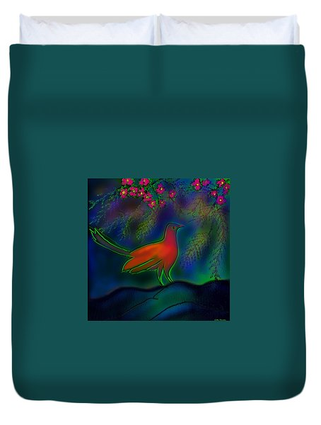 Songs Of Forest Duvet Cover by Latha Gokuldas Panicker