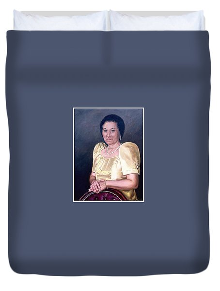 Duvet Cover featuring the painting Sonia by Rosencruz  Sumera