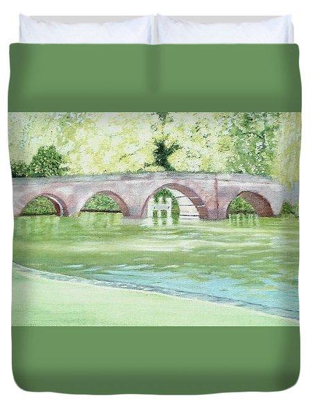 Sonning Bridge  Duvet Cover
