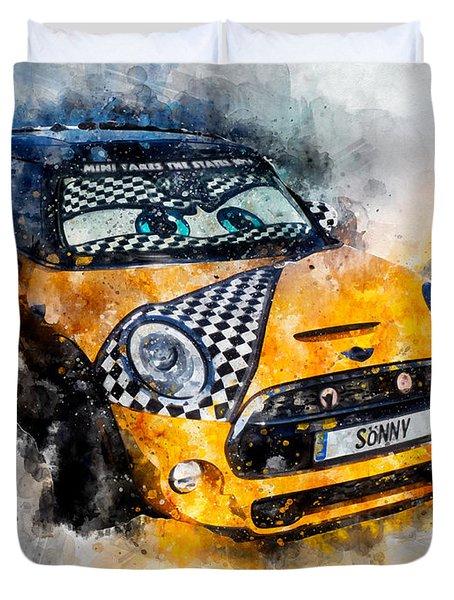 Sonny Watercolor Duvet Cover