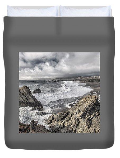 Sonoma County Coast Duncan's Landing Duvet Cover