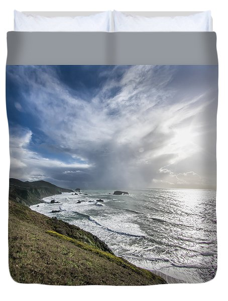 Sonoma County Coast - Late Afternoon Light Duvet Cover