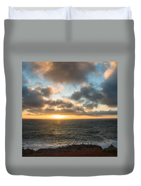 Sonoma County Coast Sunset Duvet Cover