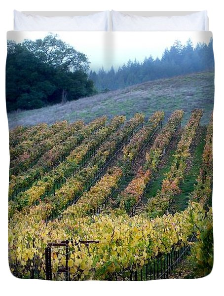 Sonoma County Vineyards Near Healdsburg Duvet Cover