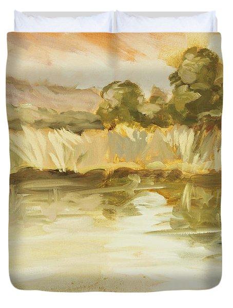 Sonoma Pond Ca Duvet Cover