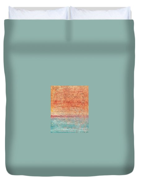Sonoran Desert #1 Southwest Vertical Landscape Original Fine Art Acrylic On Canvas Duvet Cover