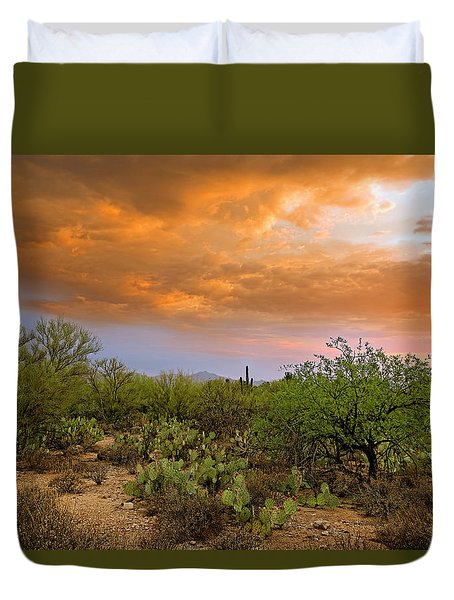 Duvet Cover featuring the photograph Sonoran Desert H11 by Mark Myhaver