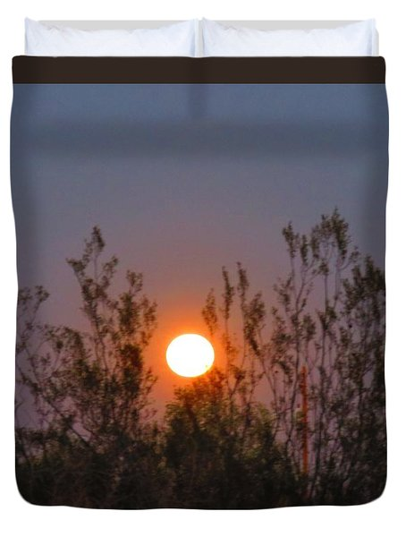 Sonoran Desert Harvest Moon Duvet Cover