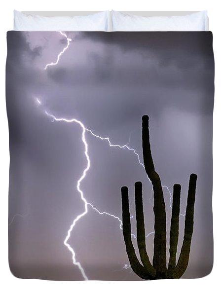 Sonoran Desert Monsoon Storming Duvet Cover