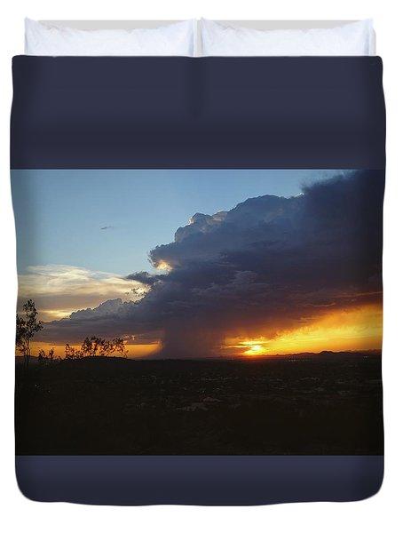 Sonoran Desert Thunderstorm Duvet Cover
